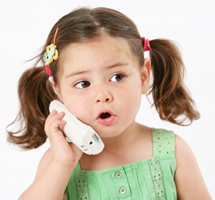 girl on telephone